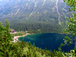 Morskie Oko, Poland, a photo, from the air