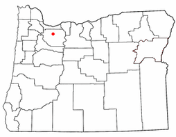 Estacada, on a map of Oregon