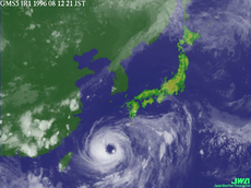 A typhoon over Okinawa. Spent nine hours in the eye of that typhoon.